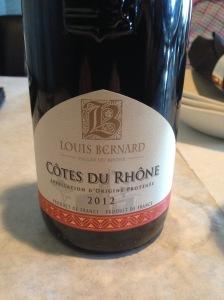 Louis Bernard Cotes du Rhone 2012