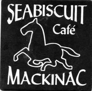 MI Seabiscuit Cafe Beer Coaster