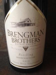 Brengman Riesling Beerenauslese 2013