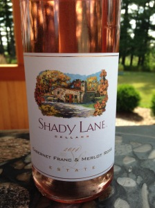 Shady Lane Cellars Cabernet Franc & Merlot Rose 2014