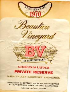 Beaulieu Vineyard Georges de Latour Cabernet Sauvignon 1970