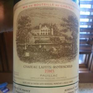 Chateau Lafitte Rothschild 1983
