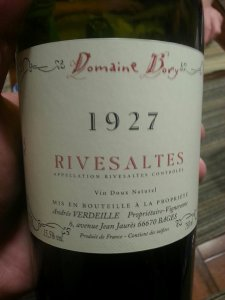 Domaine Bory Rivesaltes 1927