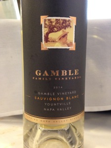 Gamble Sauvignon Blanc 2014