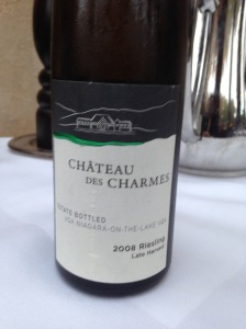 Chateau des Charmes Riesling Late Harvest 2008