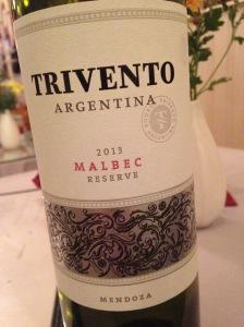 Trivento Malbec Reserve Mendoza 2013