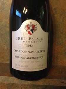 Reif Estate Chardonnay Reserve 2012