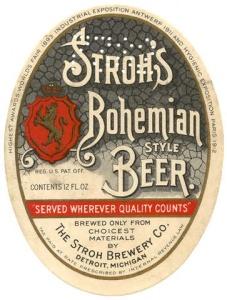 Strohs Bohemian Beer