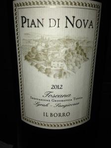 Il Borro Pian di Nova Toscana IGT 2012