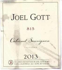 Joel Gott 815 Cabernet Sauvignon 2013