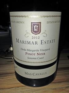 Marimar Estate Mas Cavalls Pinot Noir 2012