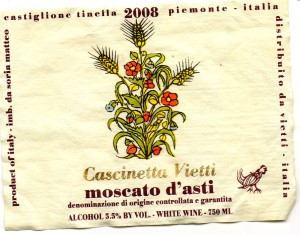 Cascinetta Vietti Moscato dAsti 2008