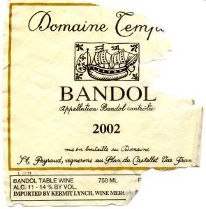 Domaine Tempier Bandol 2002