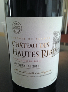 Ch des Hautes Ribes Vacqueyras 2013