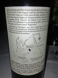 Inglenook Back Label
