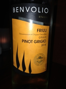 Benvolio Pinot Grigio 2014
