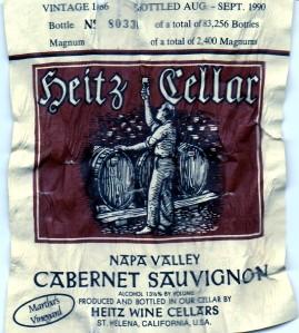 Heitz Cellar Marthas Vineyard Cabernet Sauvignon 1986
