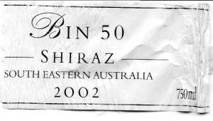 Lindemans Bin 50 Shiraz 2002