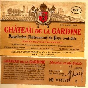 Ch de la Gardine 1971