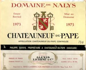 Domaine de Nalys 1973