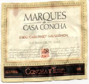 Marques de Casa Concha Cabernet Sauvignon 2000