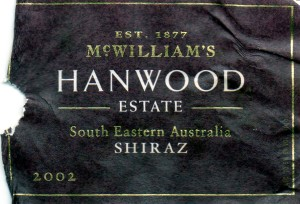 McWilliams Hanwood Estate Shiraz 2002
