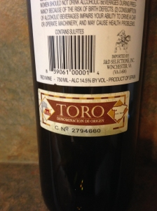 Toro DO Label