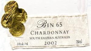 Lindemans Bin 65 Chardonnay 2002