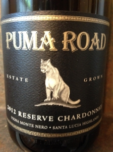 Puma Road Reserve Chardonnay 2012