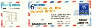 Wilson 6th Reunion Ticket